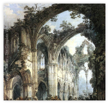 Turners painting of Tintern Abbey