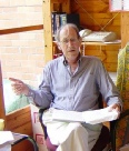 Professor Ray Billington in his Lyceum in the Angiddy Valley in May 2004 Copyright David Hoyle